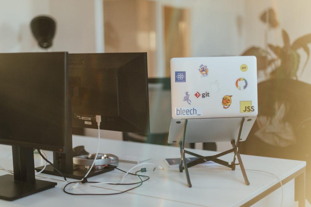 A developers desk